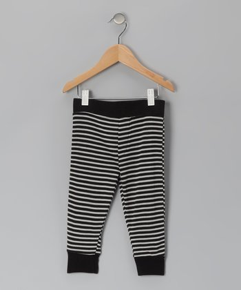 Black & White Stripe Cuff Pants - Infant, Toddler & Kids