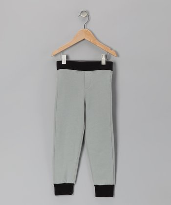 Black & Gray Cuff Pants - Infant & Boys