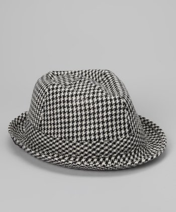 Black Houndstooth Fedora