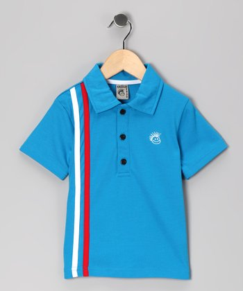 Blue Retro Stripe Polo - Infant, Toddler & Boys