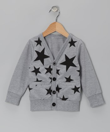 Gray Star Cardigan - Toddler & Girls