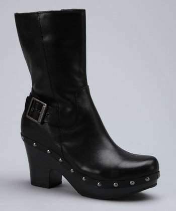 Black Carrisa Leather Boot