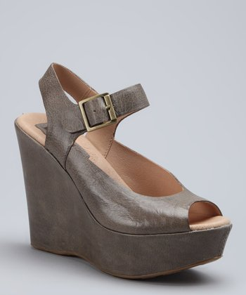 Steel Anya Leather Wedge