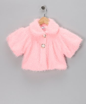 Kosse Designs Pink Faux Fur Jacket - Toddler & Girls