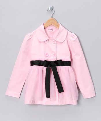 Kosse Designs Pink Double Breasted Tulle Jacket - Toddler & Girls