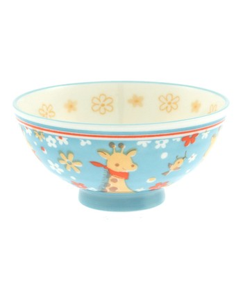 Blue Water Giraffe & Bird Rice Bowl