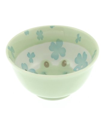 Green Frog Flowers Bowl