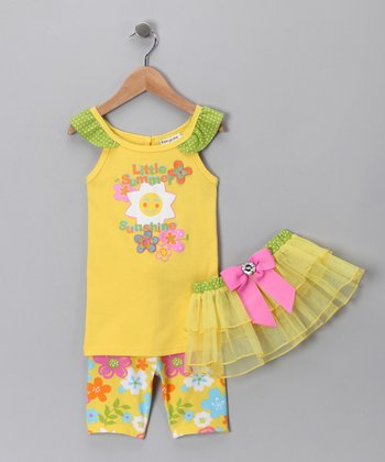 Yellow Flower Tutu Set - Infant