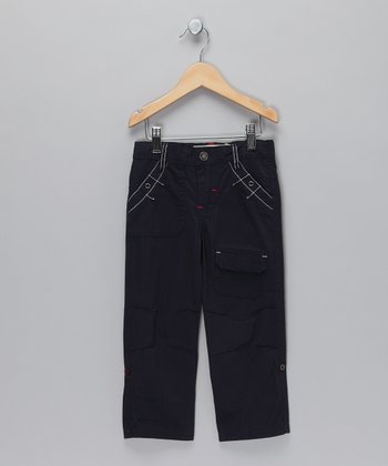 Navy Convertible Pants - Toddler