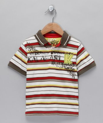 Army Stripe Polo - Toddler & Boys