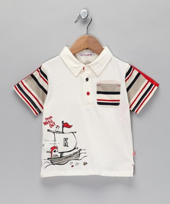 Off-White 'Pirate' Polo - Toddler