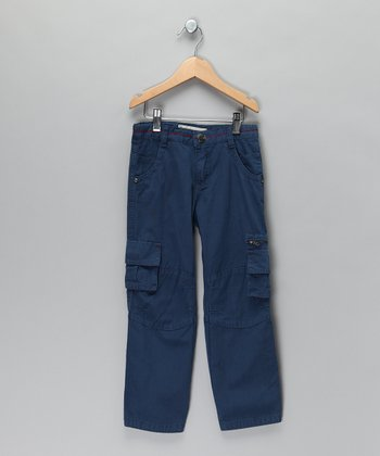 Blue Cargo Pants - Boys