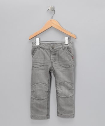 Gray Knee Patch Jeans - Infant & Toddler
