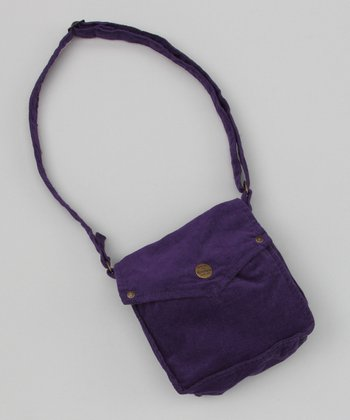 Purple Corduroy Bag
