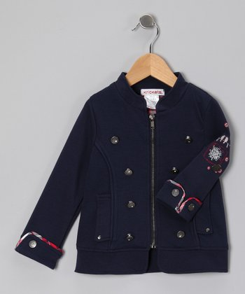 Navy Military Jacket - Toddler & Girls