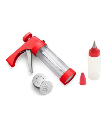 Red Cookie Press & Decorating Set
