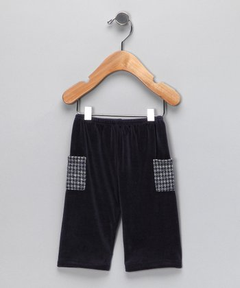 Navy Houndstooth Cargo Pants - Infant