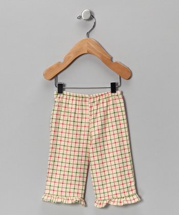 Pink & Green Plaid Flannel Pants - Infant
