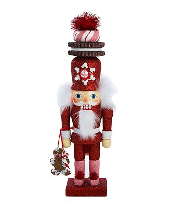 Red Gingerbread Cookie Nutcracker