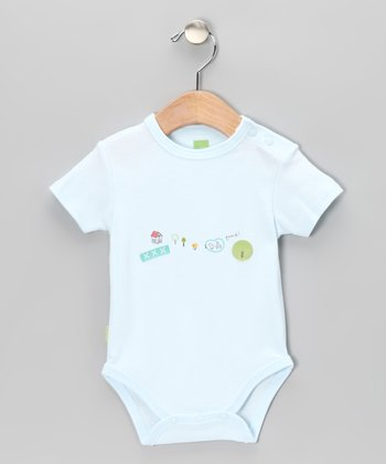 Blue New Baby Organic Bodysuit - Infant