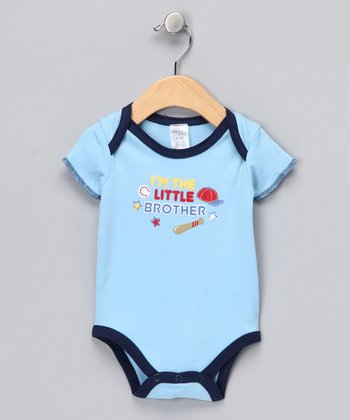 Blue & Navy 'I'm the Little Brother' Bodysuit