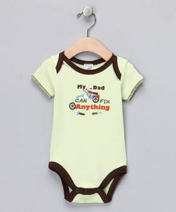 Green & Brown 'My Dad Can Fix Anything' Bodysuit
