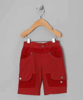 Red Two-Tone Pants