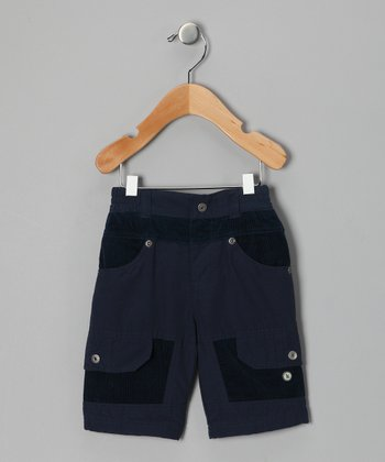 Navy Two-Tone Pants