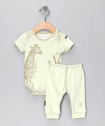 Green Walk on the Wild Side Organic Bodysuit & Pants - Infant