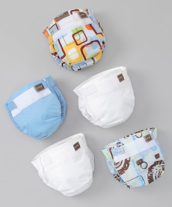 Cornflower Ultra-Lite Reusable Diaper Set
