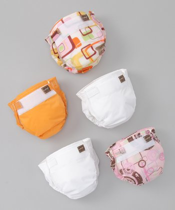 Orange Ultra-Lite Reusable Diaper Set