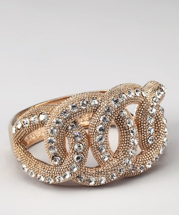 LAJ Gold Sparkle Twist Stretch Bracelet