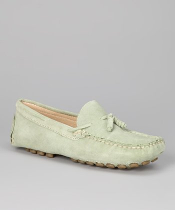 Green Suede Tassel Moccasin - Women