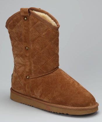 Chestnut Quilted Boot