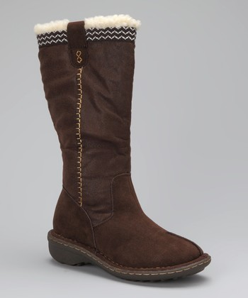 Dark Brown Tall Camper Boot
