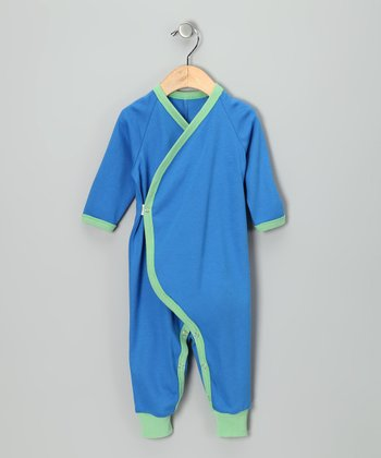 Royal Blue & Green Organic Playsuit - Infant