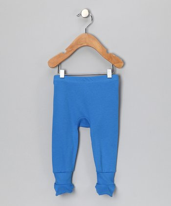 Royal Blue Organic Footie Pants - Infant