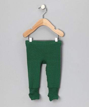 Frog Green Organic Footie Pants - Infant