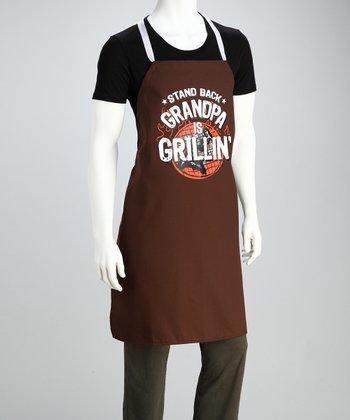 'Grandpa is Grillin'' Apron - Adult