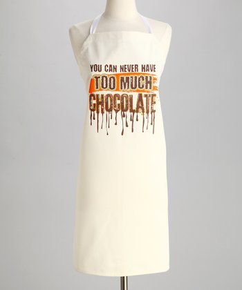Natural 'Too Much Chocolate' Apron