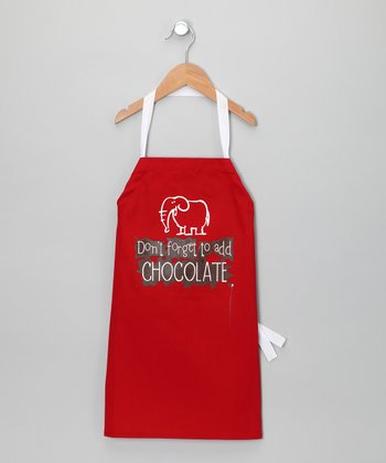 Red 'Add Chocolate' Apron