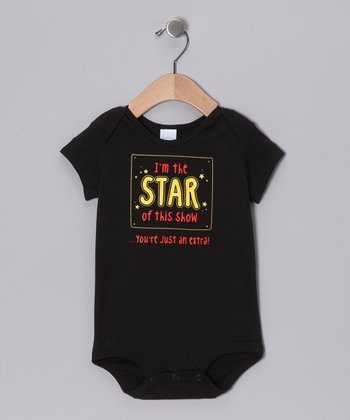 Black 'Star of This Show' Bodysuit - Infant