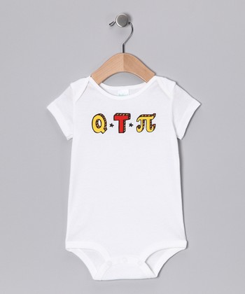 White 'Q.T.Pi' Bodysuit - Infant