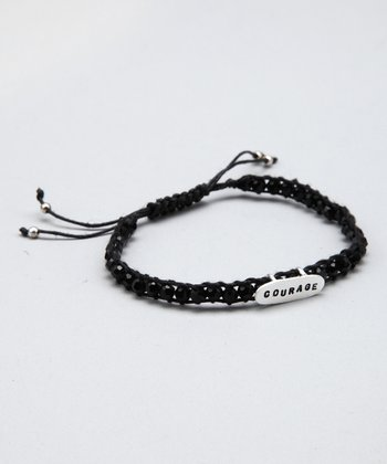 Black 'Courage' Ladder Bracelet
