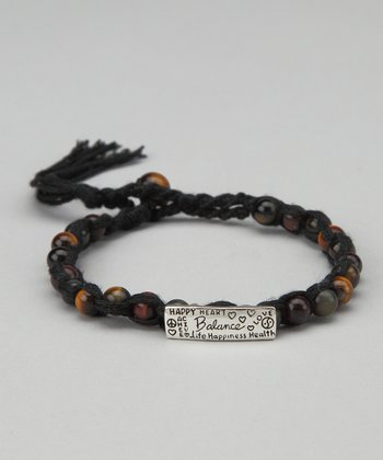 Brown 'Balance' Beaded Bracelet