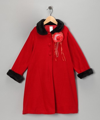 Red Rosette Coat - Toddler & Girls