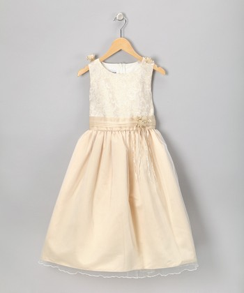 Champagne Sleeveless Dress - Toddler & Girls