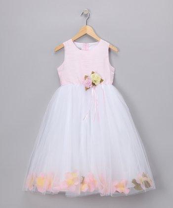 LA Sun Pink Floral Chiffon Dress - Toddler & Girls