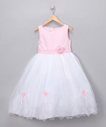LA Sun Pink Rose Satin Dress - Toddler & Girls