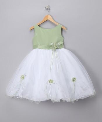 LA Sun Sage Rose Satin Dress - Toddler & Girls